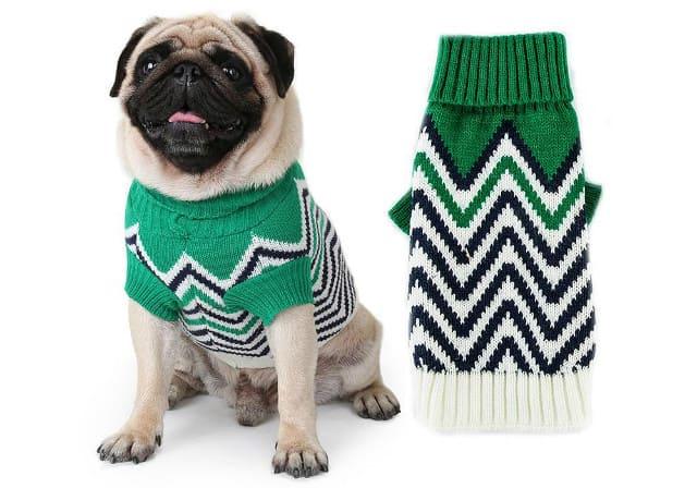 Одежда для мопсов – вязаный свитер