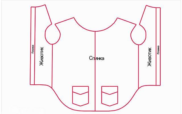 Одежда для французского бульдога - выкройка жилетки