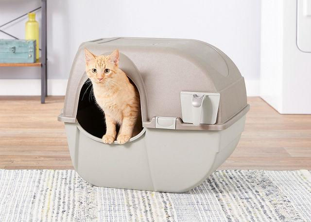 Лоток-домик для котенка