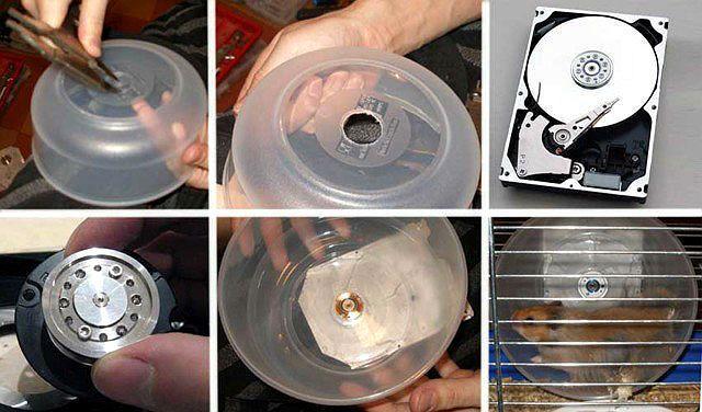 Колесо для хомяка своими руками из компьютерного диска