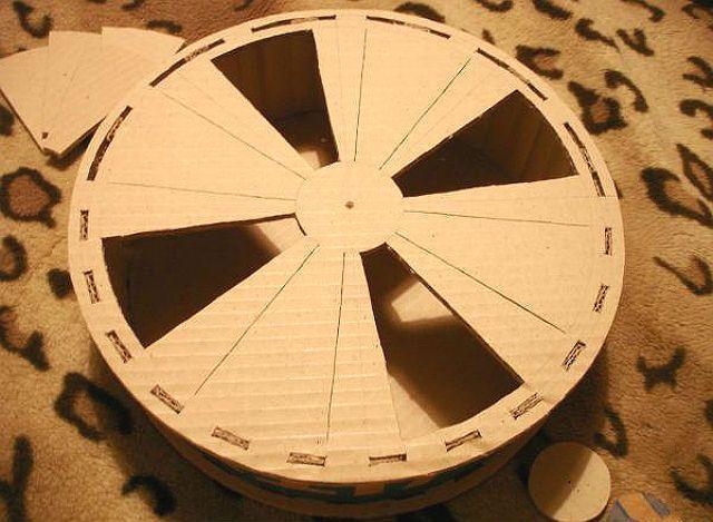 Беговое колесо для хомяка своими руками из картона