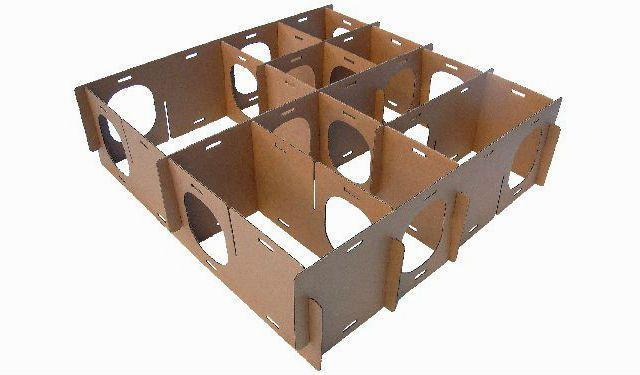 Лабиринт для хомяка из картона