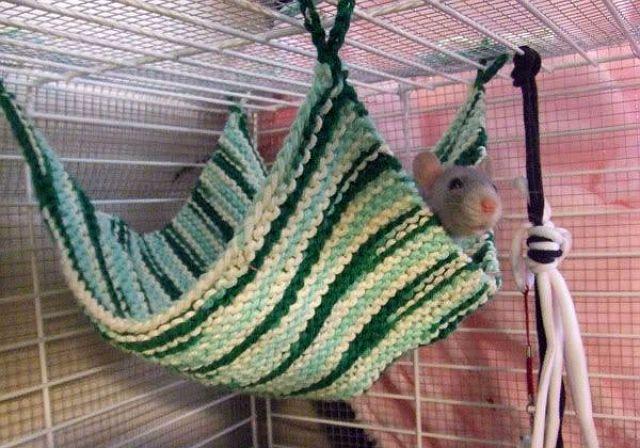 Гамак для декоративной крысы из пряжи