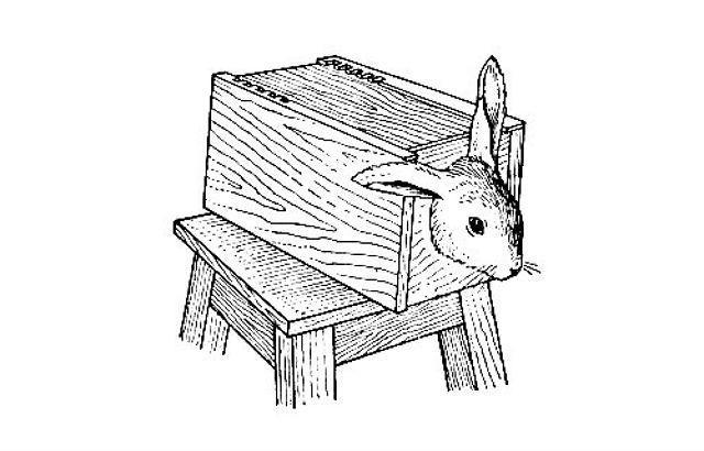 Бокс для фиксации кроликов