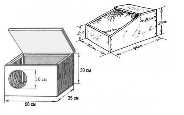 Маточник для кроликов - чертеж 1