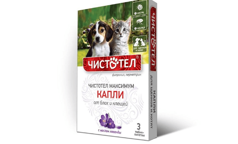 Чистотел для кошек - капли максимум