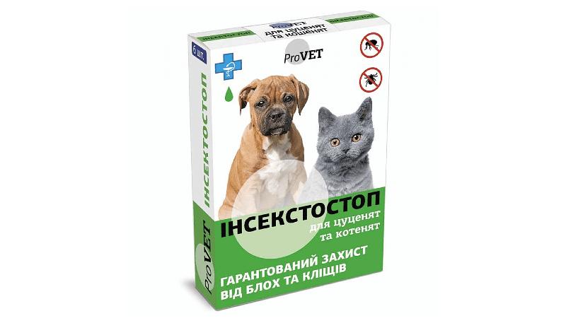 Инсектостоп для кошек - применение